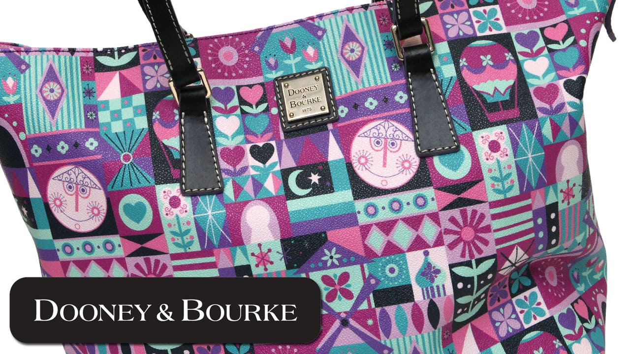 Dooney & Bourke handbags inspired by the classic Disney Parks attraction it's a small world'