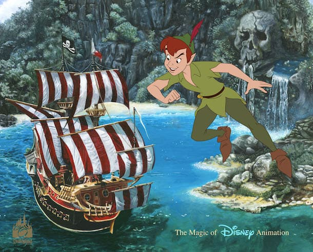 'Neverland Fantasy' Hand-Painted Ink & Paint Cel