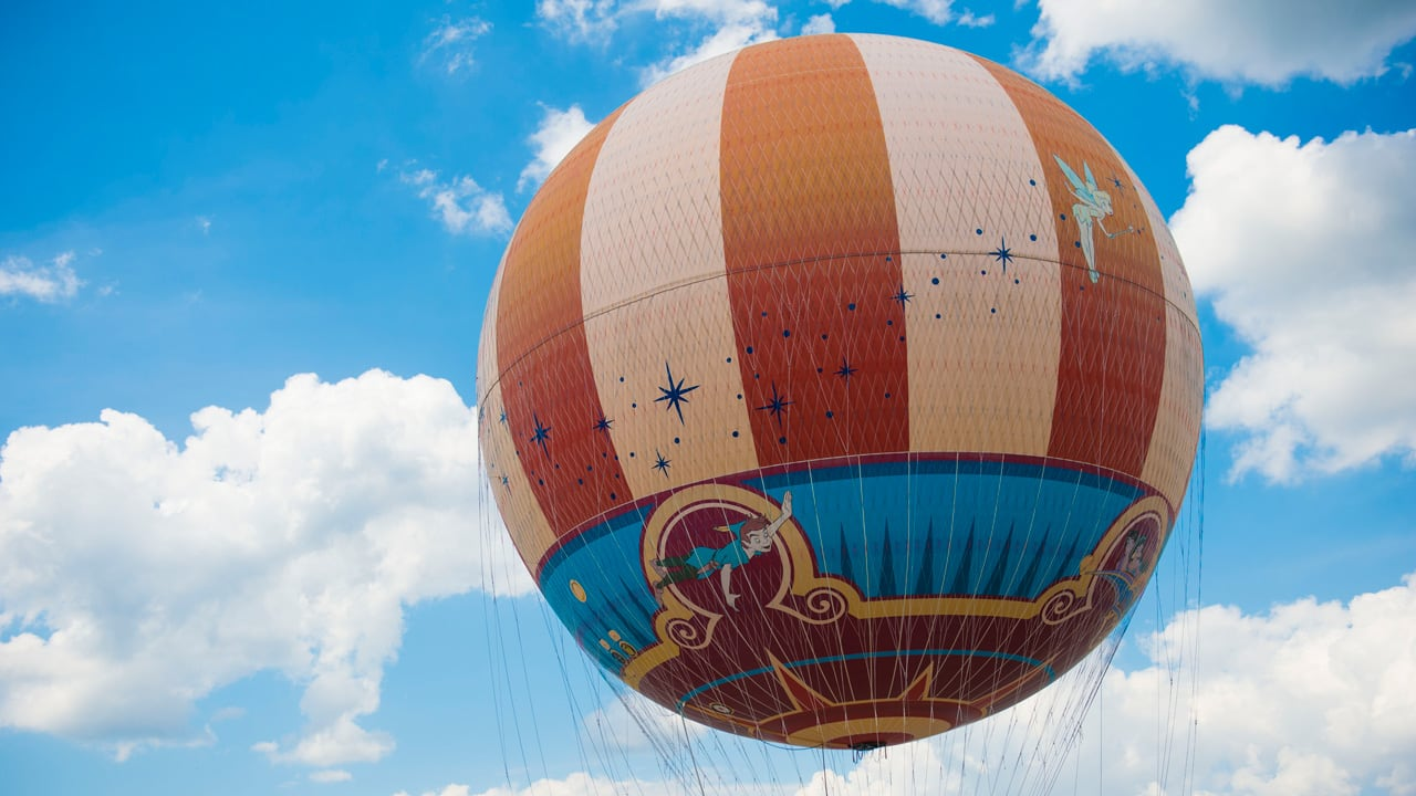 Characters in Flight Balloon at Disney Springs