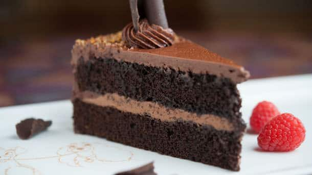 Chocolate Cake From Tony's Town Square Restaurant at Magic Kingdom Park