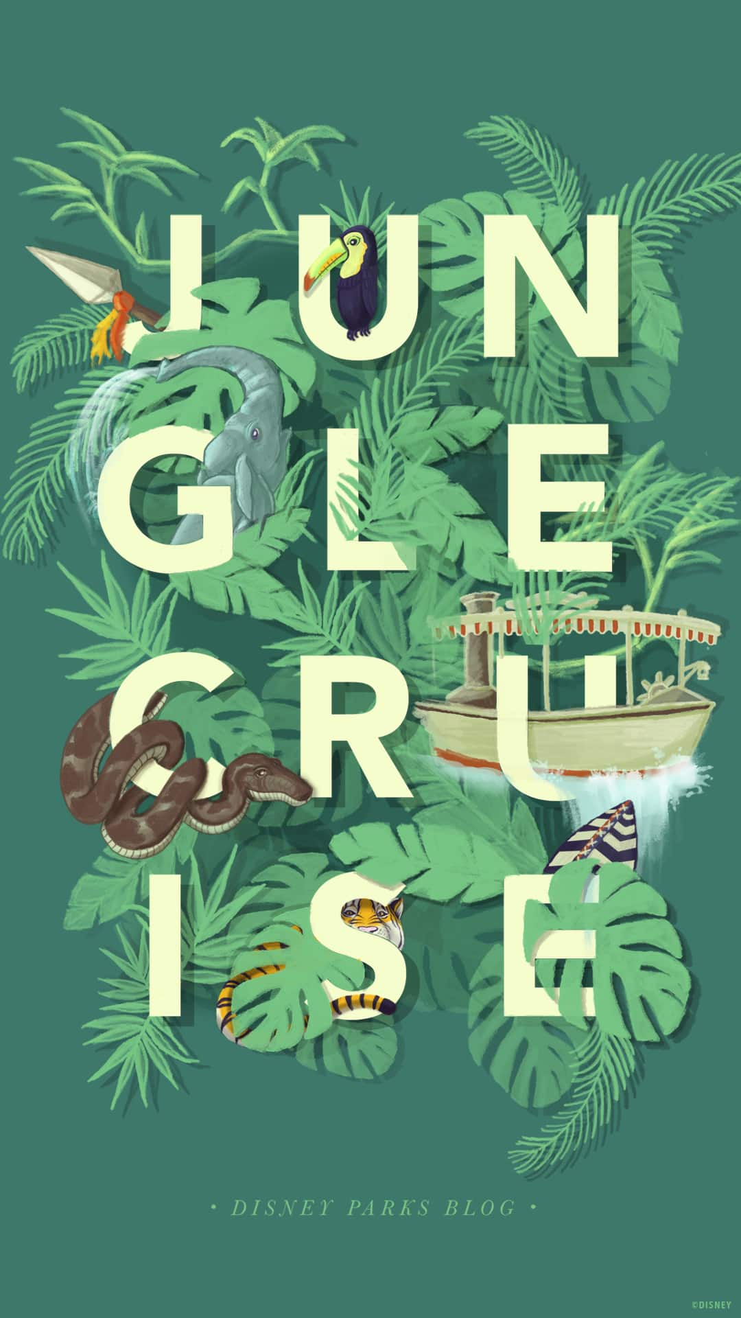 45th Anniversary Wallpaper The Jungle Cruise Mobile Disney Parks Blog