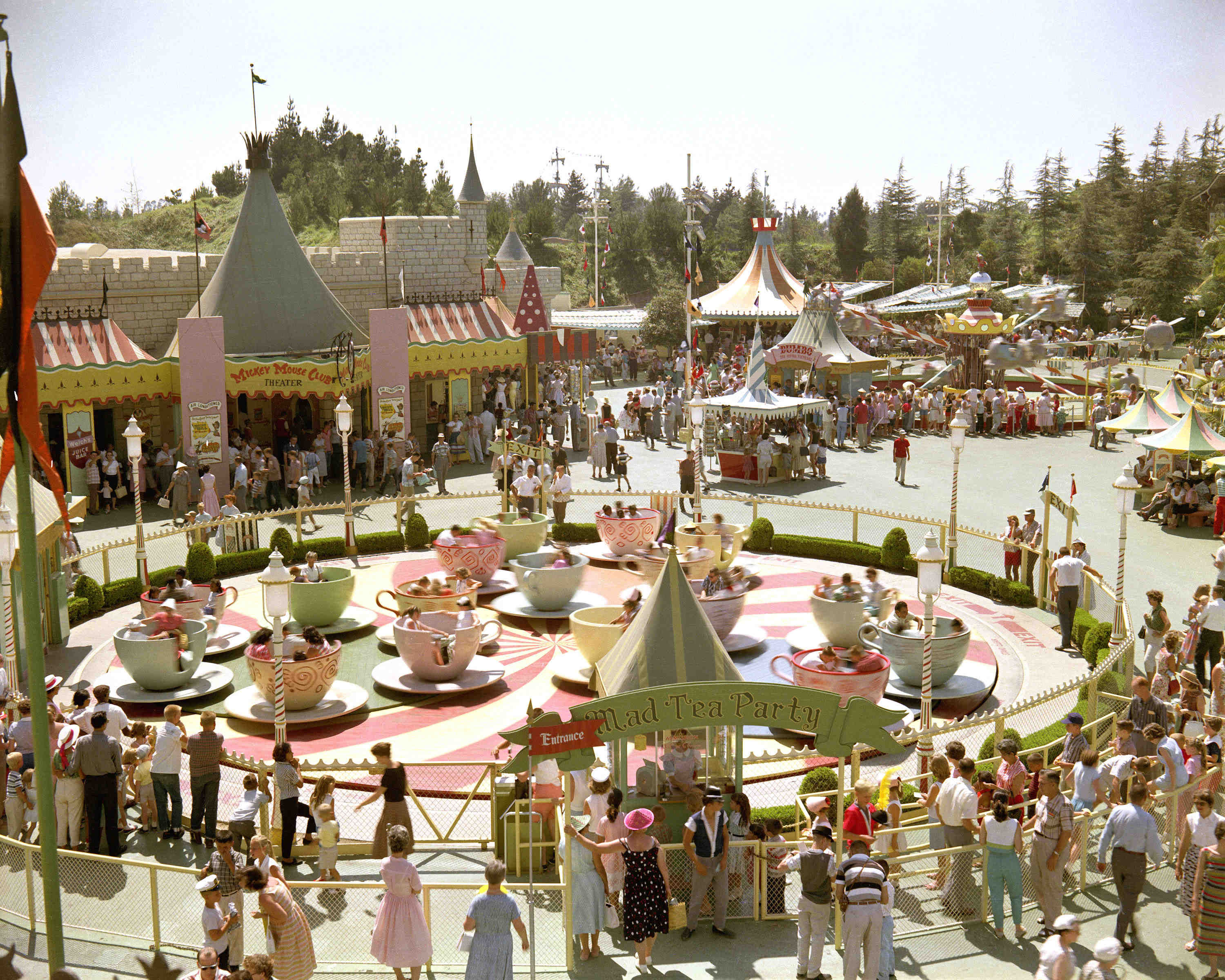 Opening Day To Today Original Disneyland Attractions Then And Now
