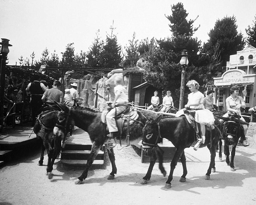 Rainbow Ridge Pack Mules Original Attraction at Disneyland Park
