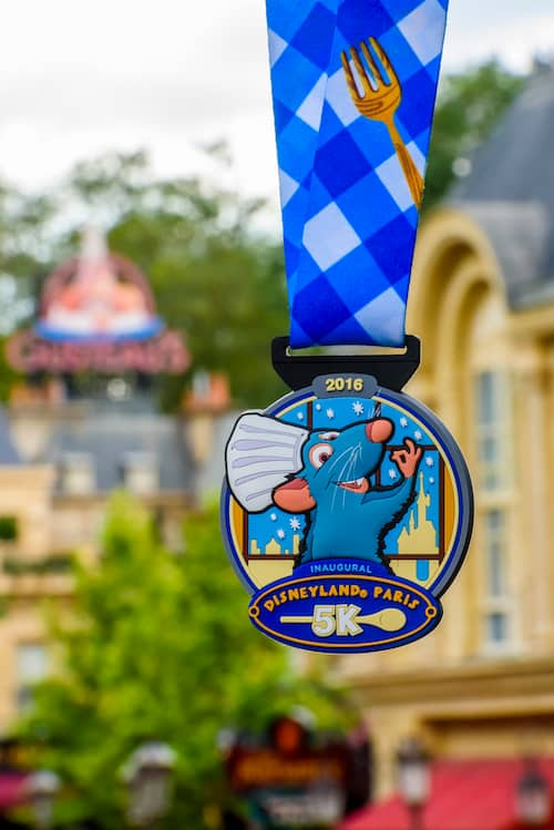 Disneyland Paris 5K Medal featuring Remy