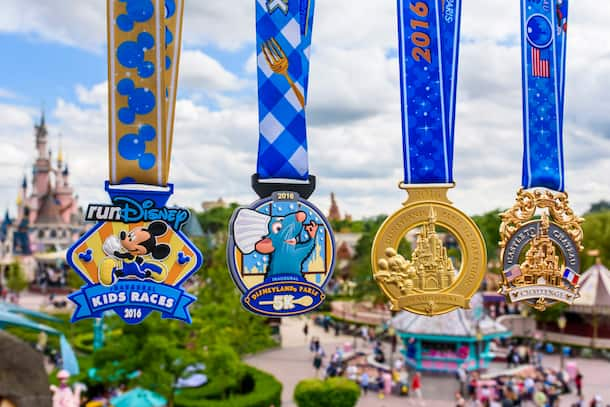 Inaugural Disneyland Paris – Val d'Europe Half Marathon Weekend Medals