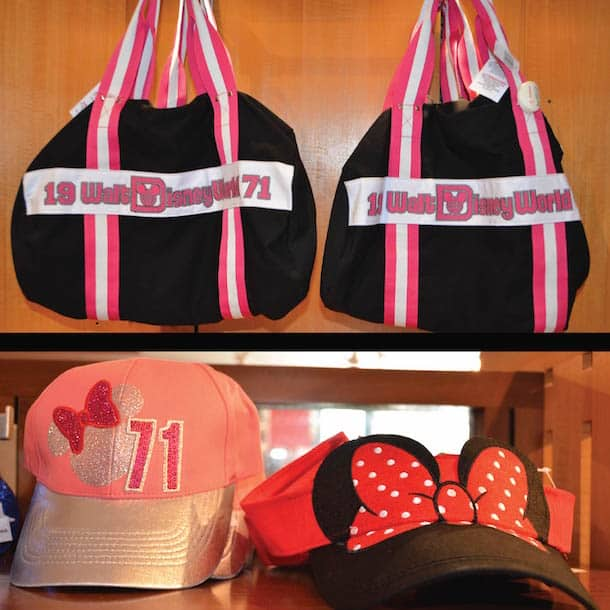 Walt Disney World Sports Bag, Minnie Mouse Cap and Visor