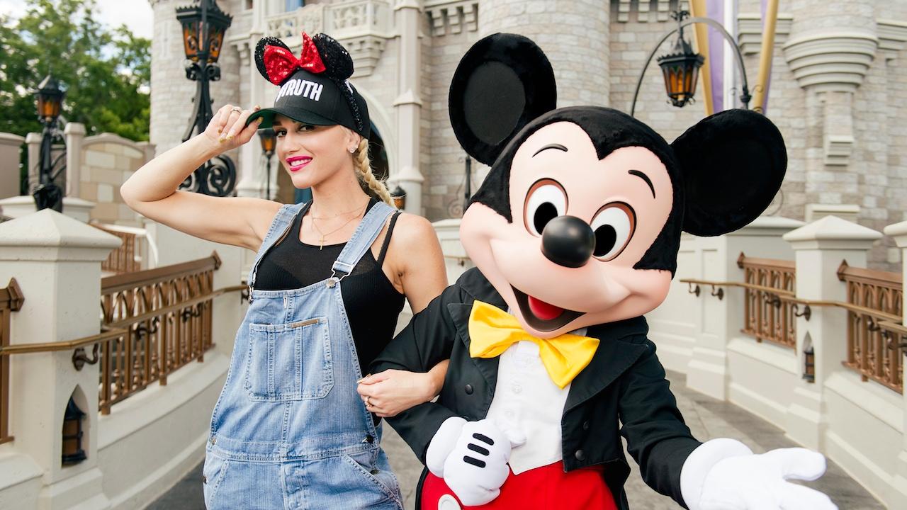Singer Gwen Stefani Shows Mickey Some Love At Walt Disney World Resort