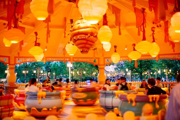 Hunny Pot Spin in the In the Hundred Acre Wood at Shanghai Disneyland