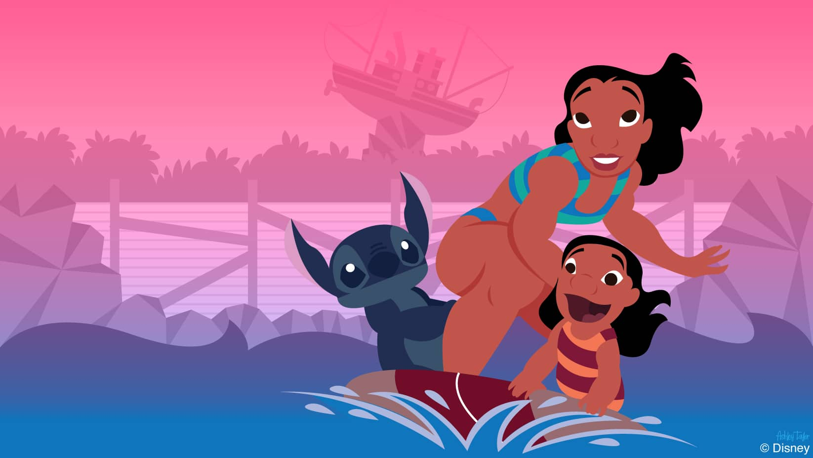 Disney Doodle: Surf's Up at Typhoon Lagoon for Lilo's 'Ohana