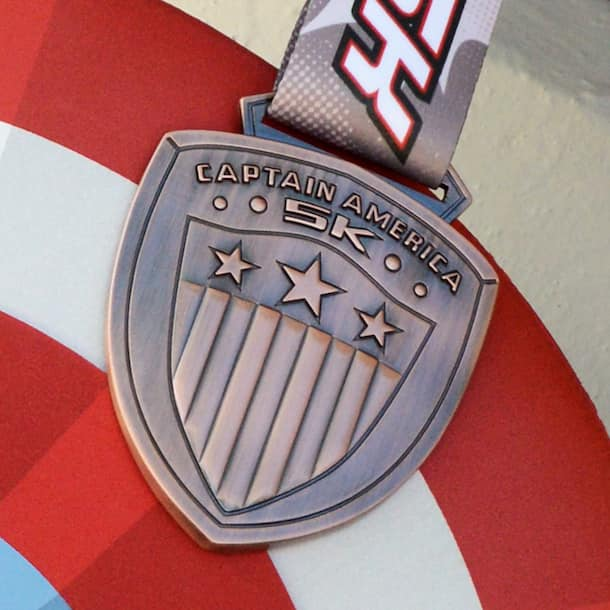 Captain America on 5K Medal