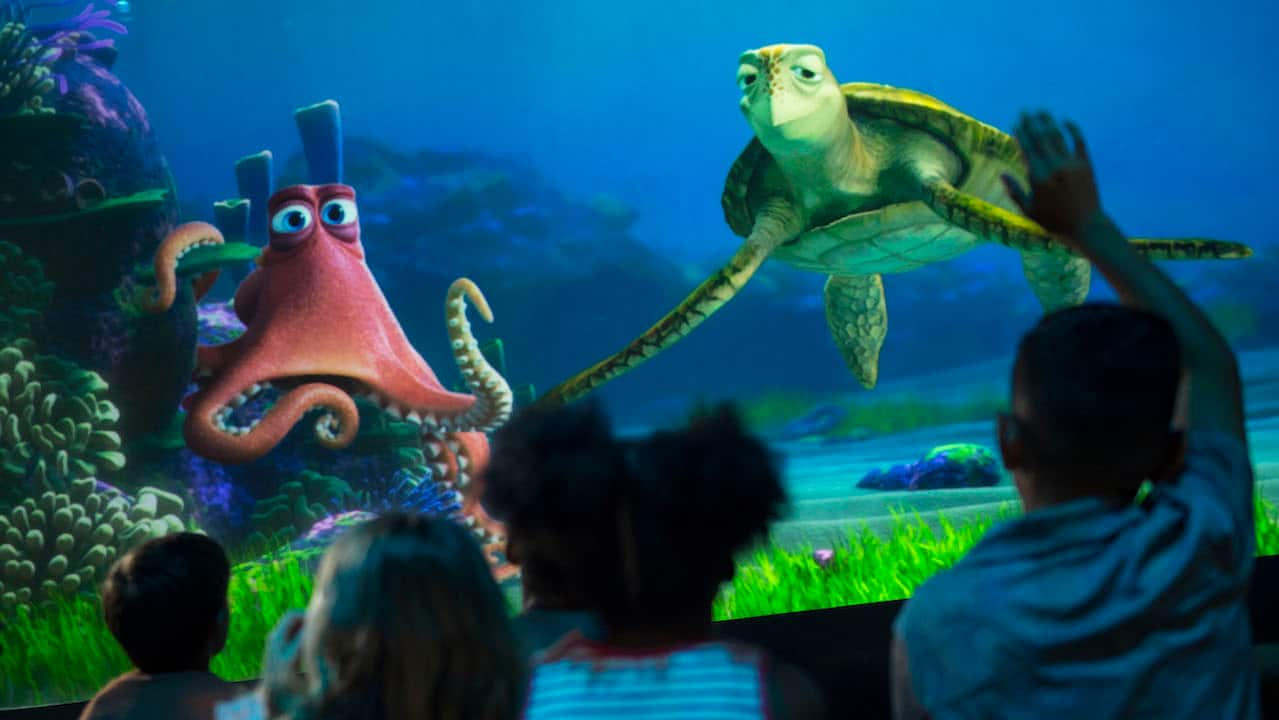 'Finding Dory' Friends Join Turtle Talk with Crush at Epcot