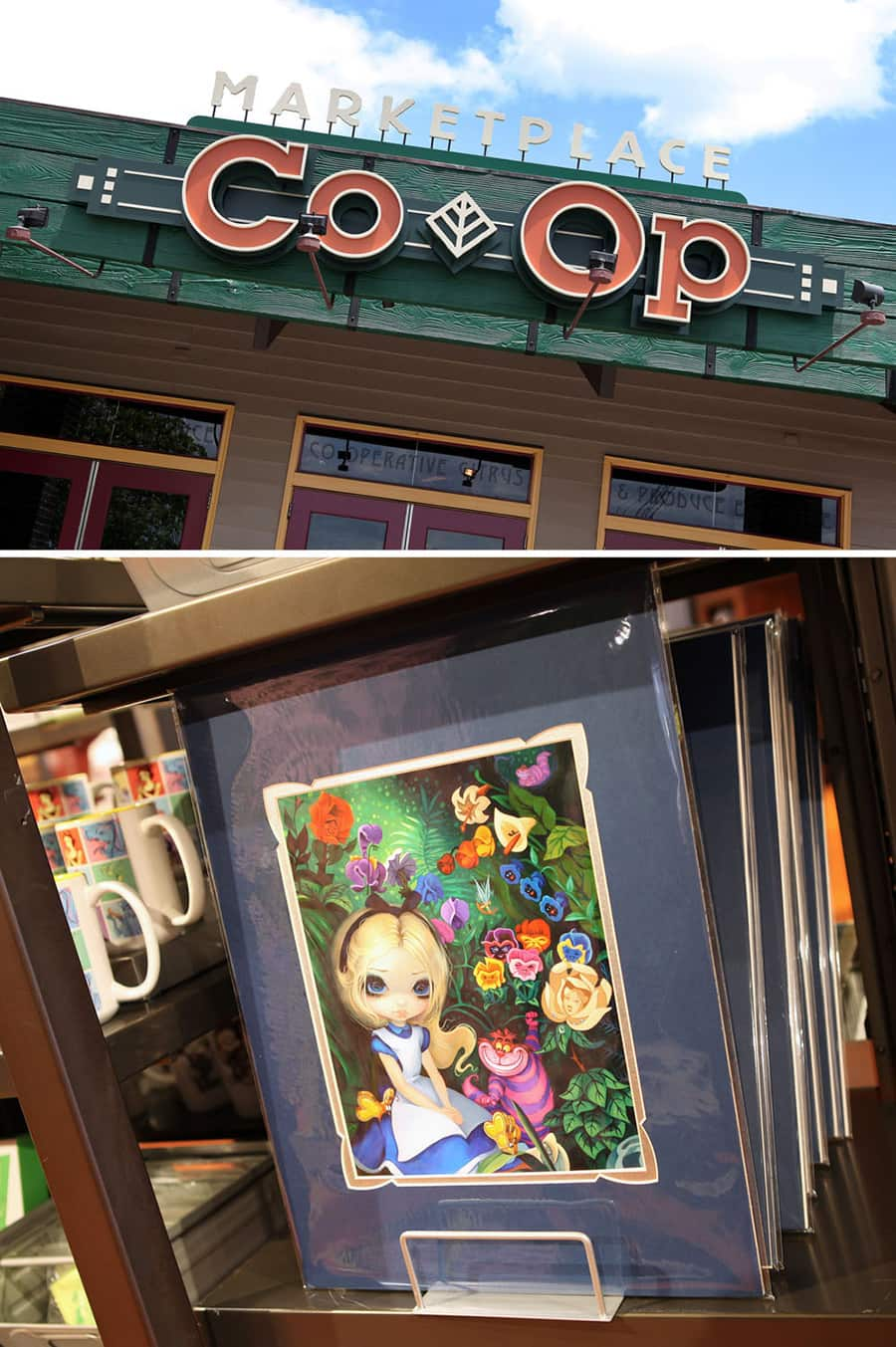 Art by Jasmine Becket-Griffith at the Disney Springs Marketplace Co-op