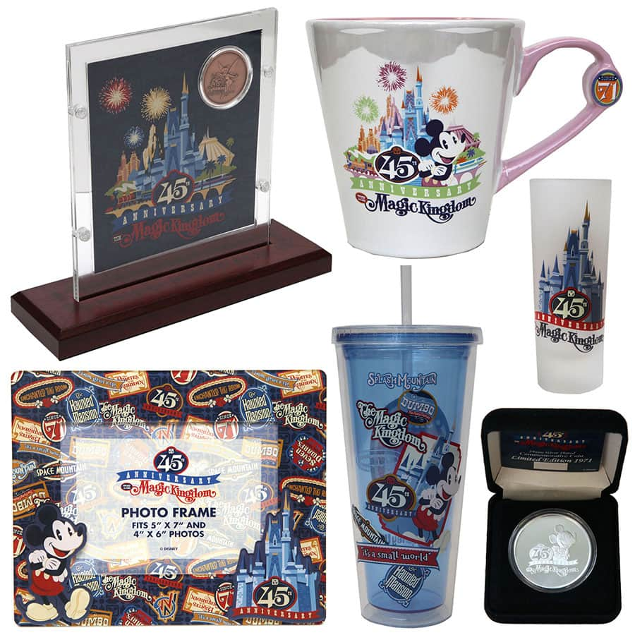 Another Look at Magic Kingdom 45th Anniversary Products Arriving in ...