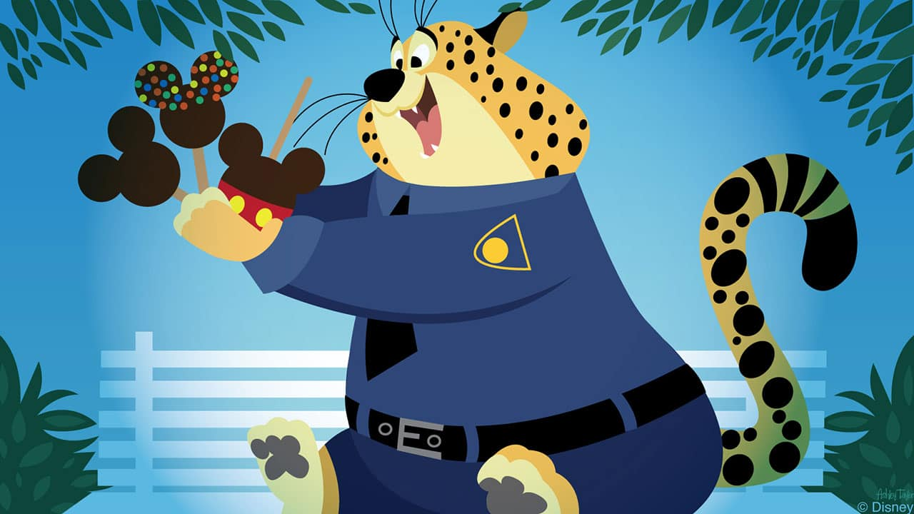 Disney Doodle: Clawhauser Finds Sweet Treats