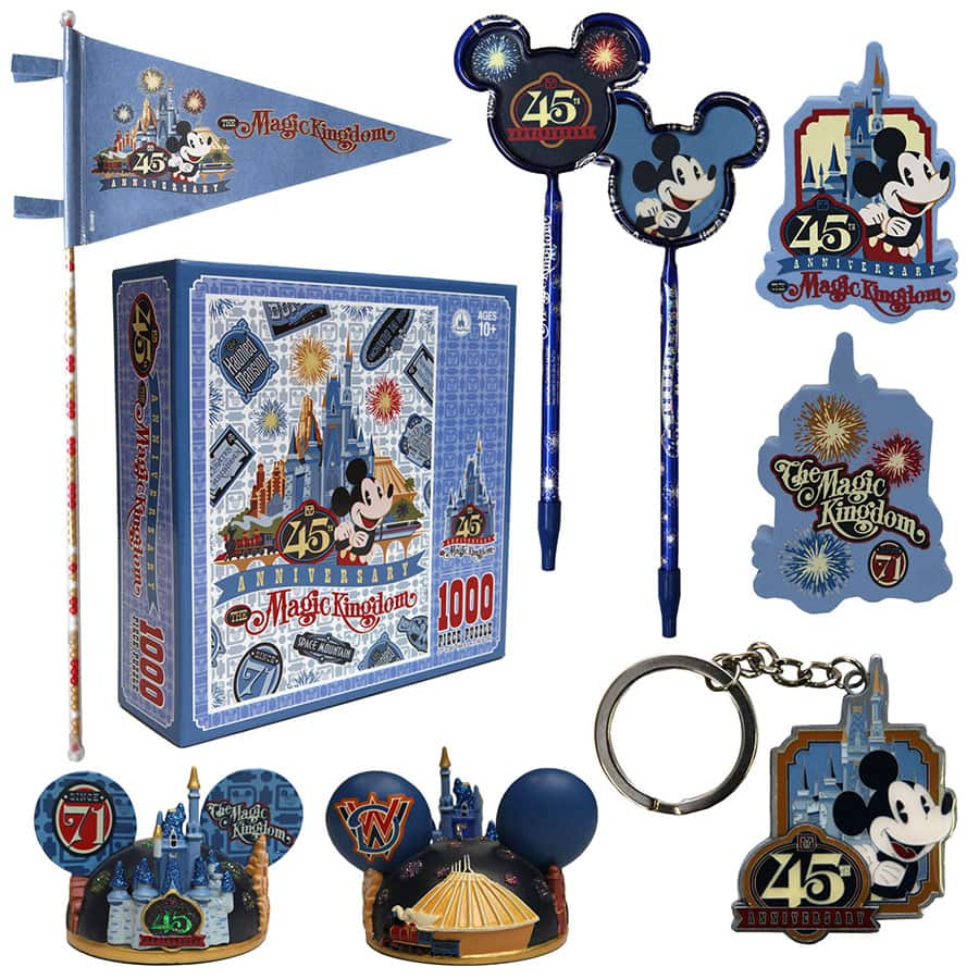Another Look at Magic Kingdom 45th Anniversary Products Arriving in Fall 2016 at Walt Disney World Resort