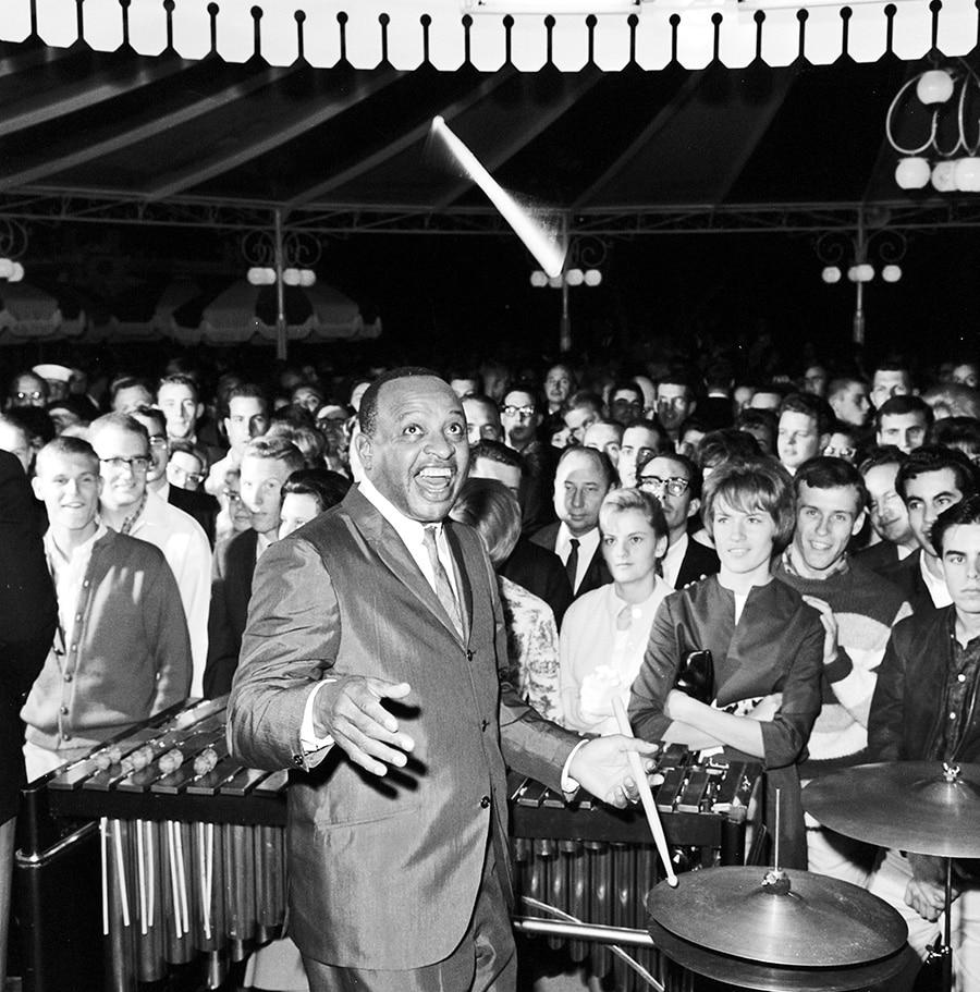 Lionel Hampton performing at Carnation Plaza Gardens at Disneyland Park