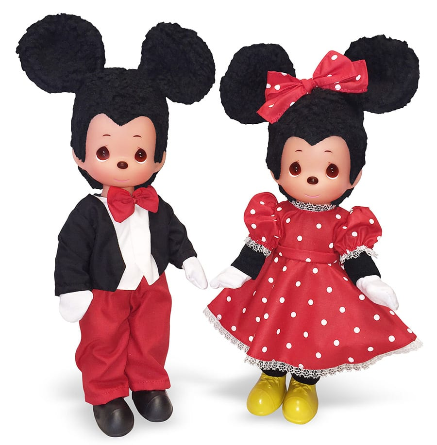Mickey Mouse and Minnie Mouse Precious Moments Dolls