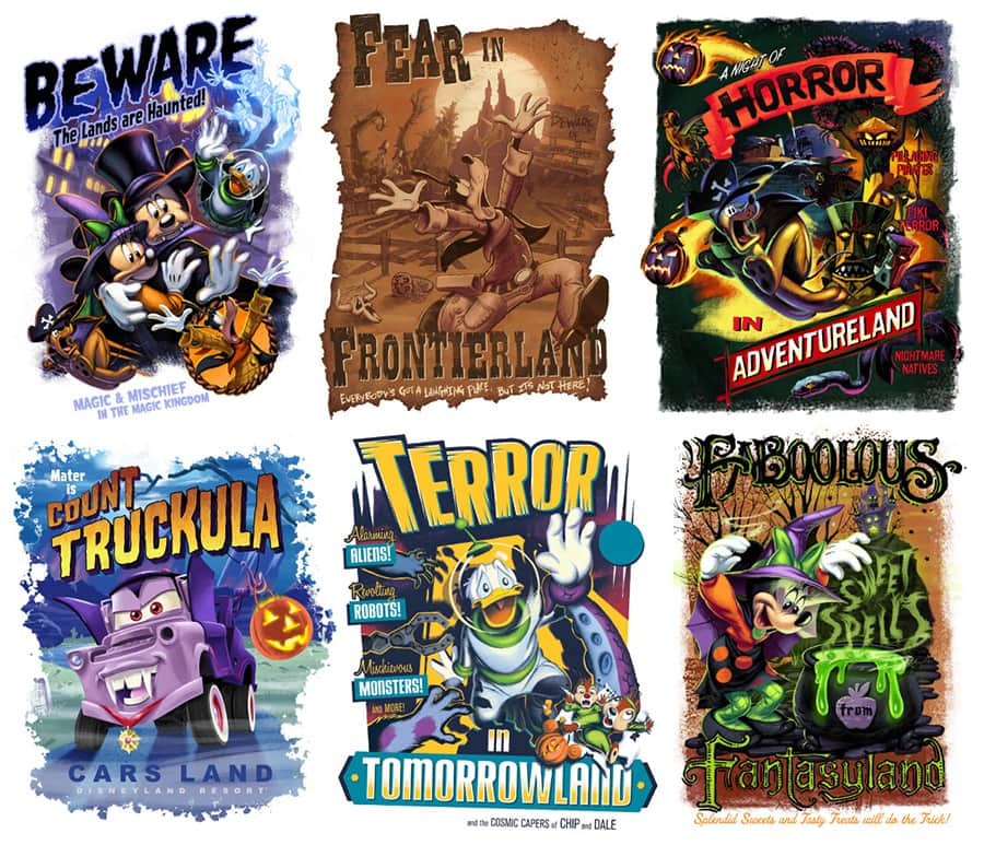 Disney Parks Halloween Posters