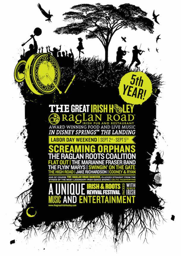 The 'Great Irish Hooley' Returns to Raglan Road Irish Pub & Restaurant Labor Day Weekend