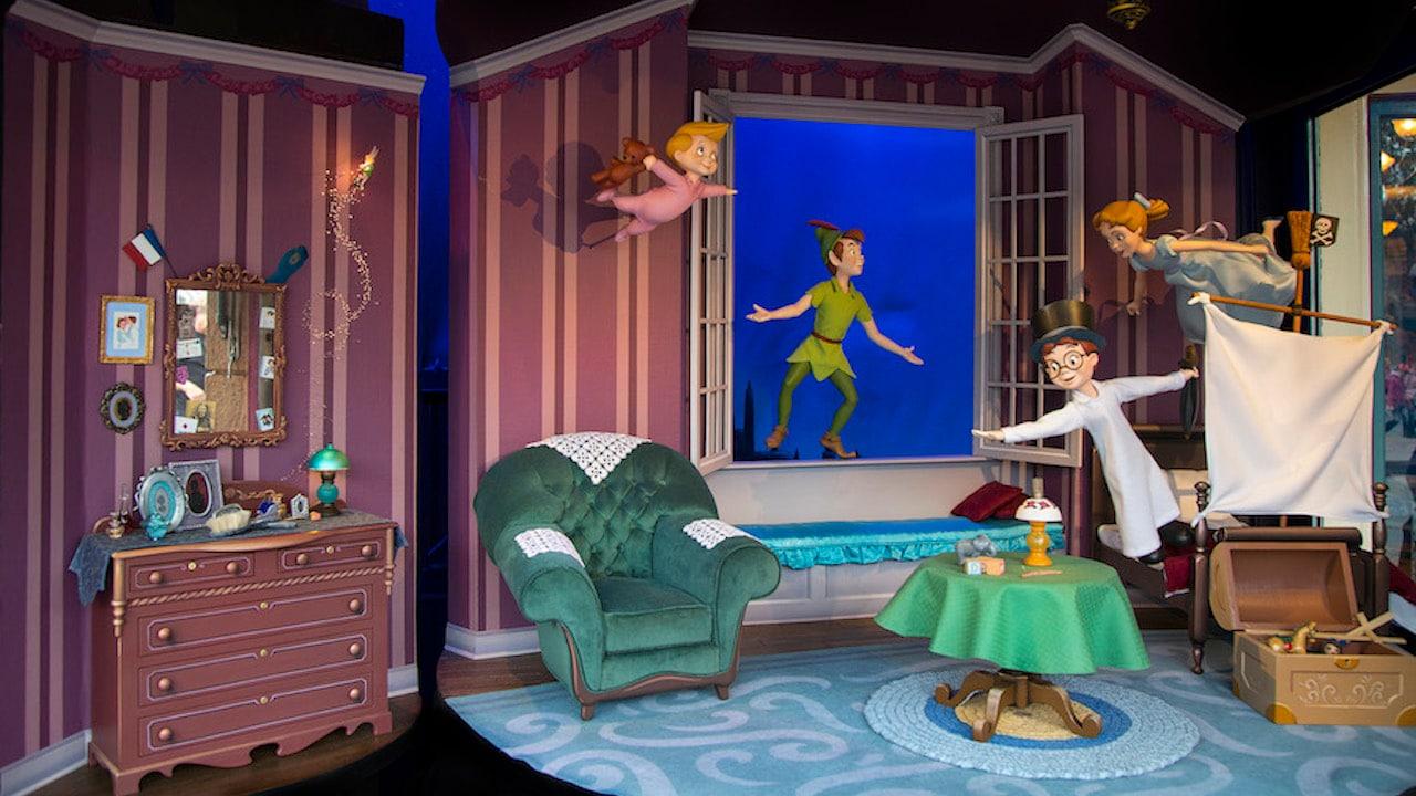 Peter Pan Main Street Enchanted Windows at Disneyland Park