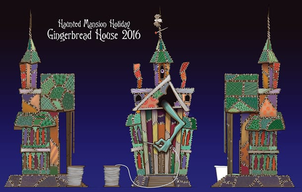 FIRST LOOK: 2016 Haunted Mansion Holiday Gingerbread House at Disneyland Park