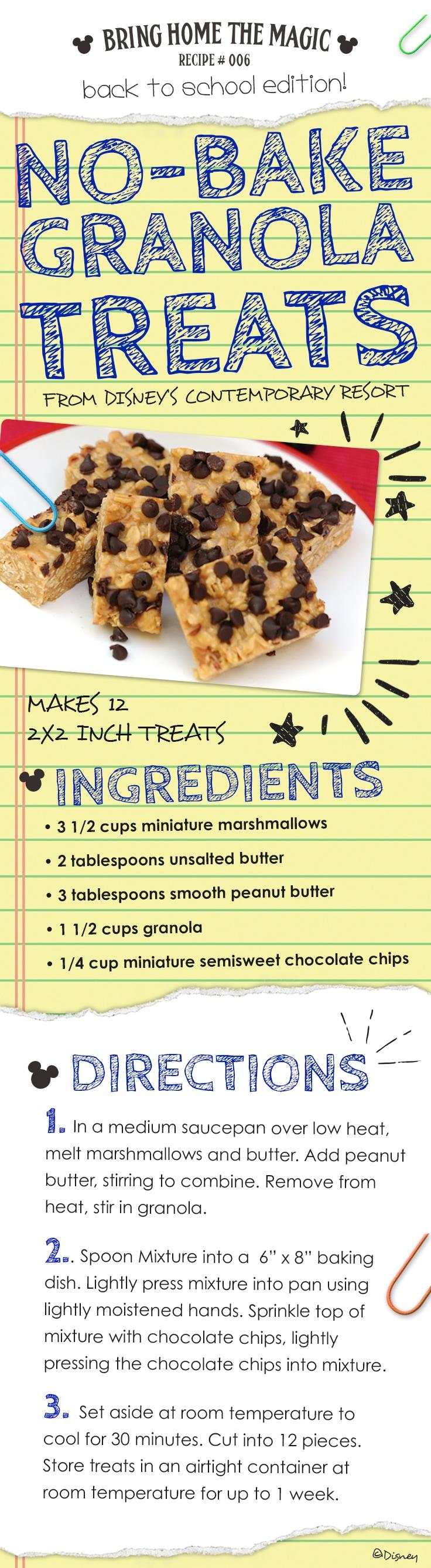 No-Bake Granola Treats Recipe