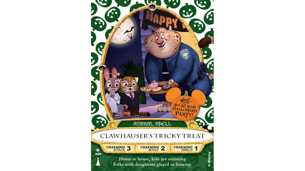 'Clawhauser' Sorcerers of the Magic Kingdom Card To Be Released At Mickey's Not-So-Scary Halloween Party
