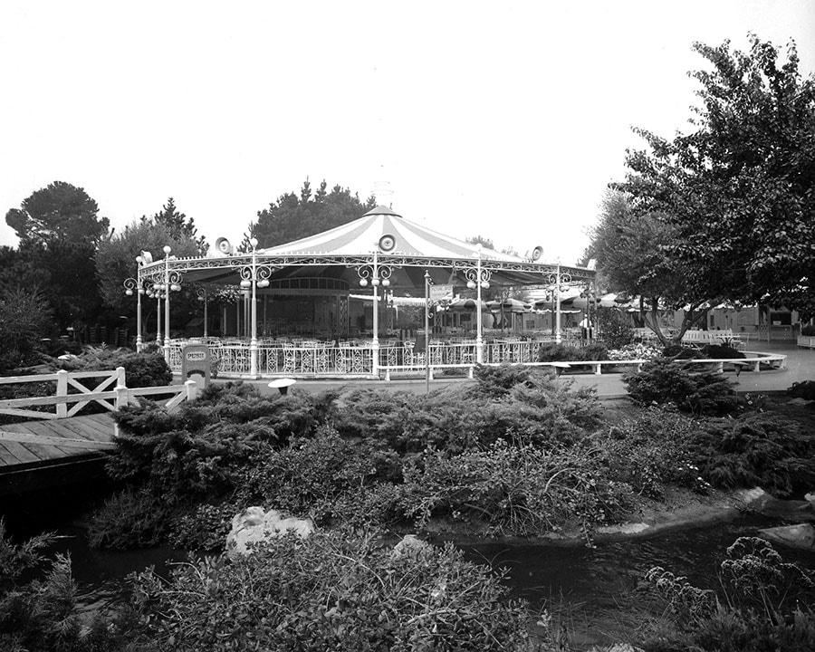 Dance Pavilion and Grandstand at Carnation Plaza Gardens at Disneyland Park