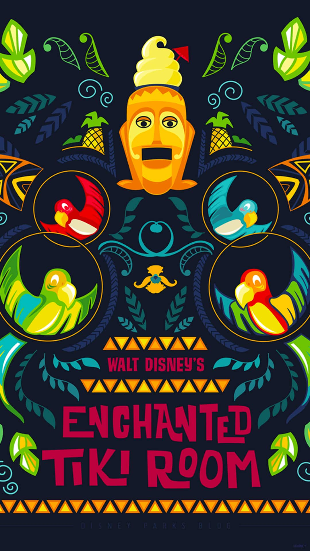 45th Anniversary Wallpaper Walt Disney S Enchanted Tiki Room Mobile Disney Parks Blog