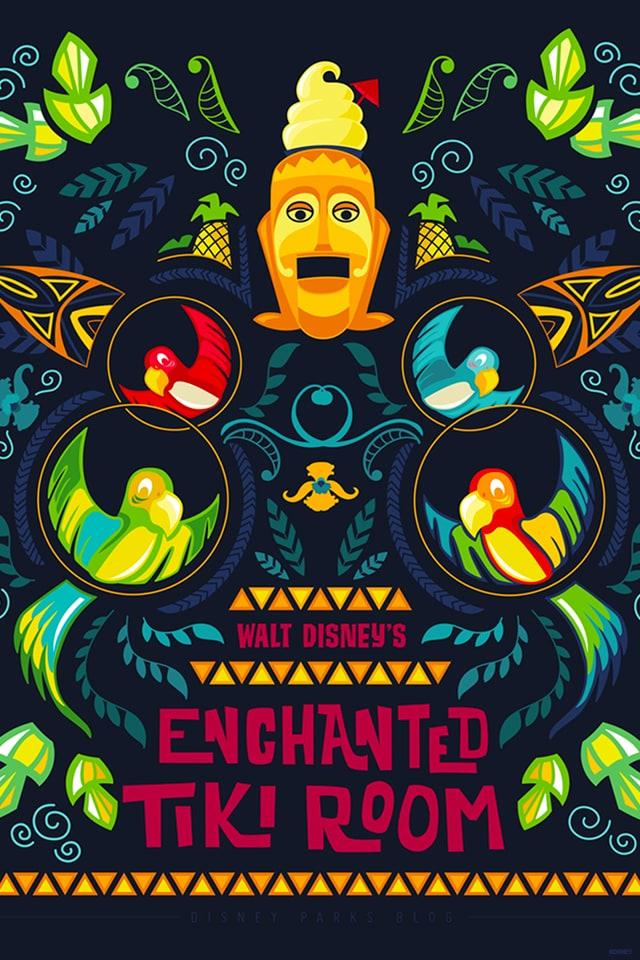 45th Anniversary Wallpaper: Enchanted Tiki Room