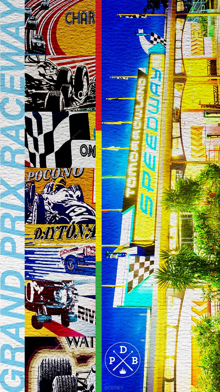 45th Anniversary Wallpaper: Tomorrowland Speedway - Mobile