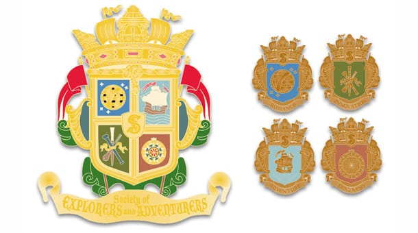 S.E.A. (Society of Explorers and Adventurers) Pins
