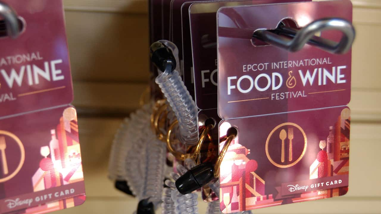 New Wearable Disney Gift Card Designs available at 2016 Epcot International Food & Wine Festival