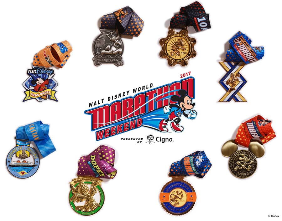 The Walt Disney World Marathon Medal Collection