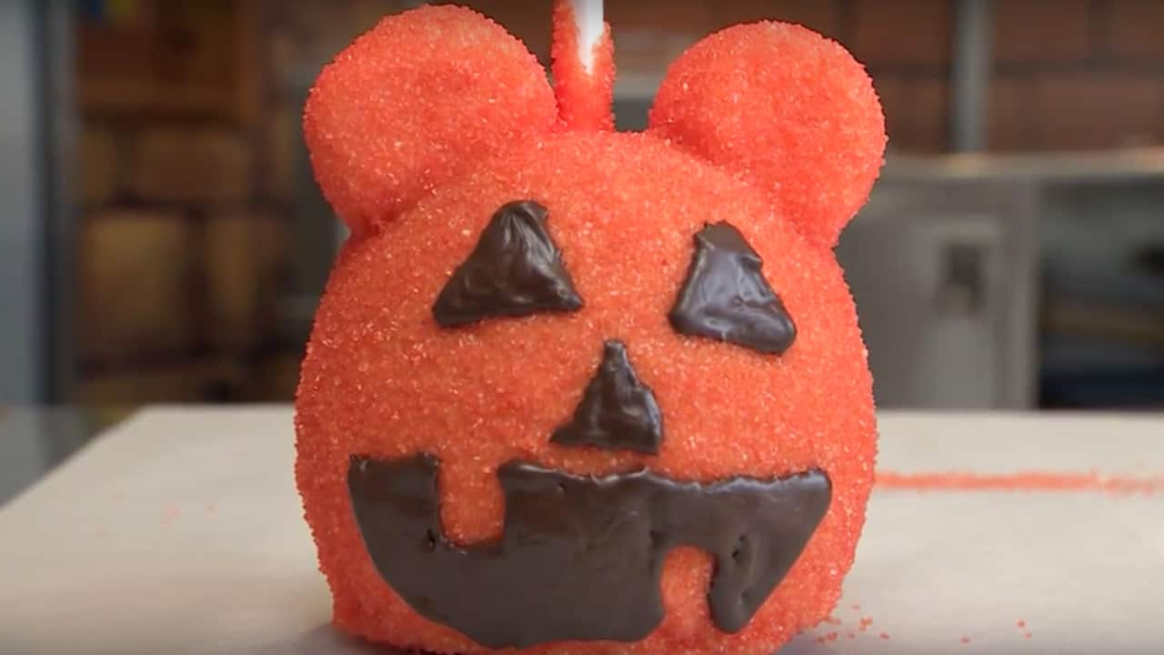 Mickey Pumpkin Candy Apple