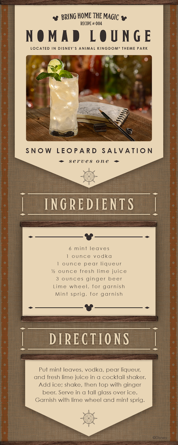 Snow Leopard Salvation from Nomad Lounge at Disney's Animal Kingdom