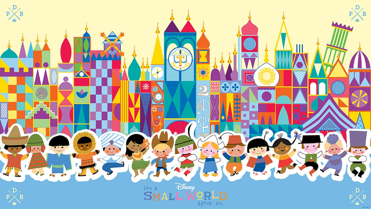 45th Anniversary Wallpaper: 'it's a small world'