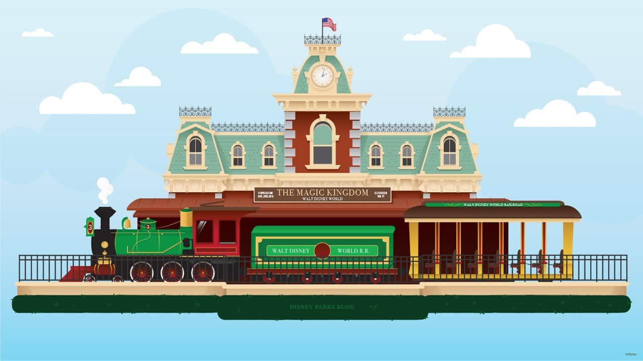 45th Anniversary Wallpaper Walt Disney World Railroad Train Station Disney Parks Blog