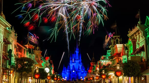 Hallowishes Fireworks at Mickey's Not-So-Scary Halloween Party