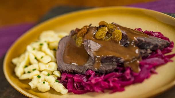 Sauerbraten from Prost! in Epcot Nov. 25-Dec. 30