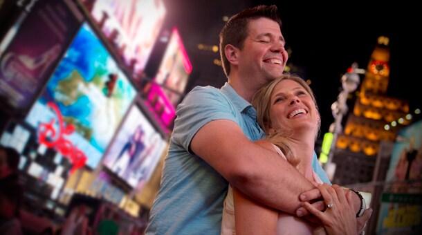 Adventures by Disney Long Weekend: Couple enjoying New York at night