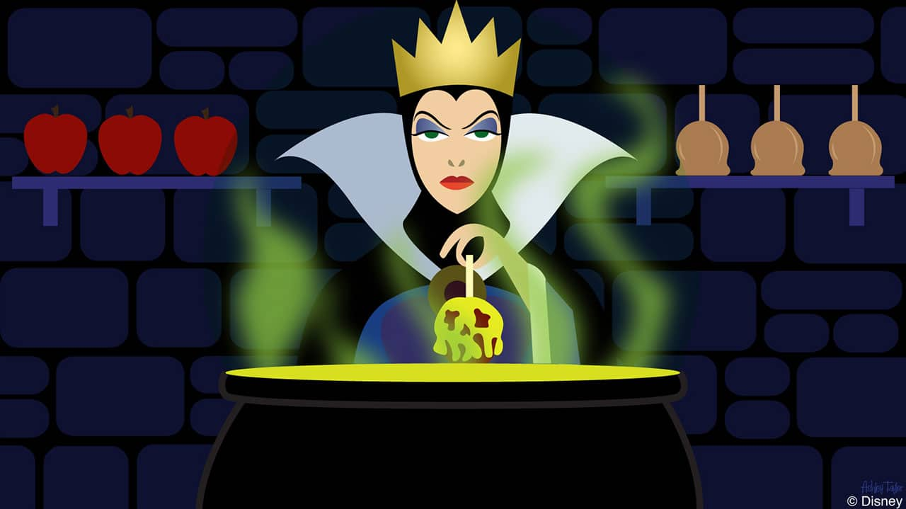 Disney Doodle: The Evil Queen from 'Snow White' Takes Over The Candy Cauldron