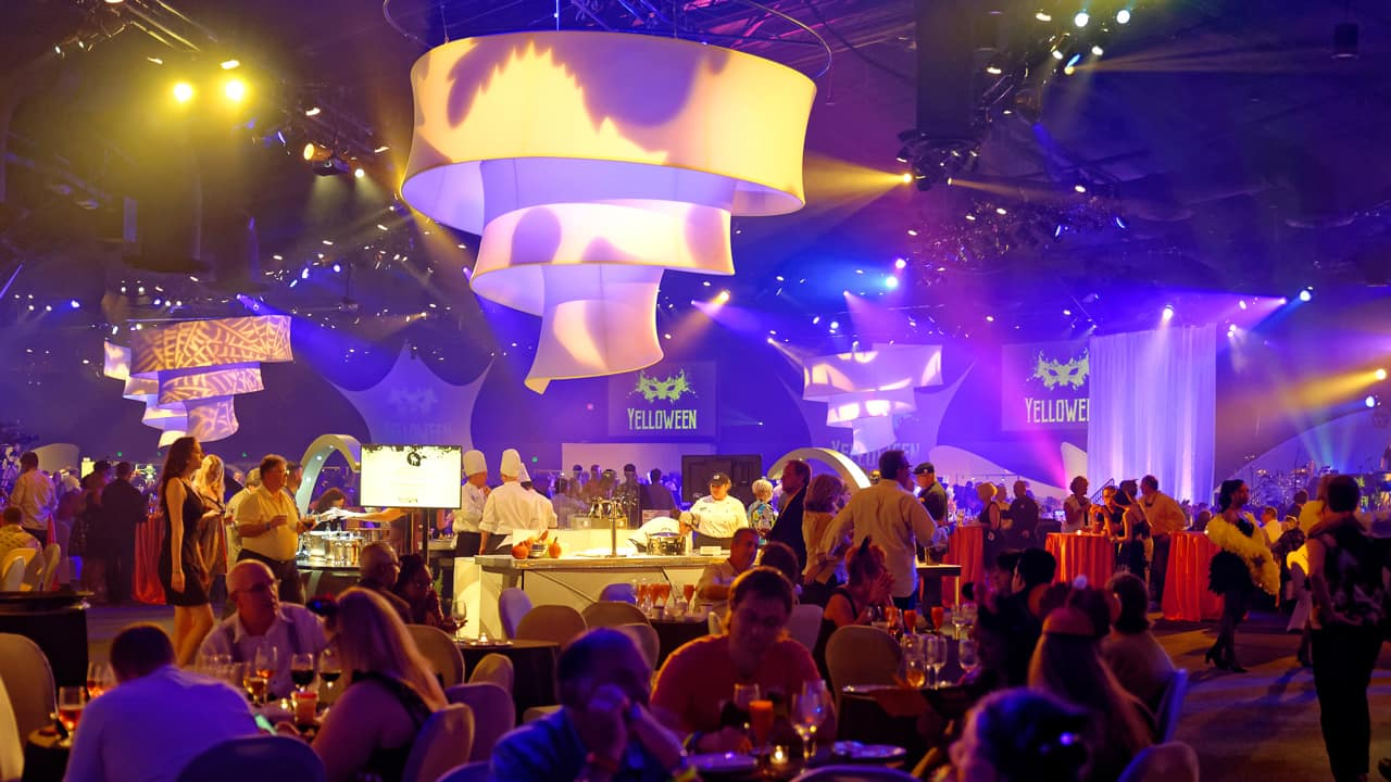 Yelloween Masquerade Party for the Senses at the Epcot International Food & Wine Festival