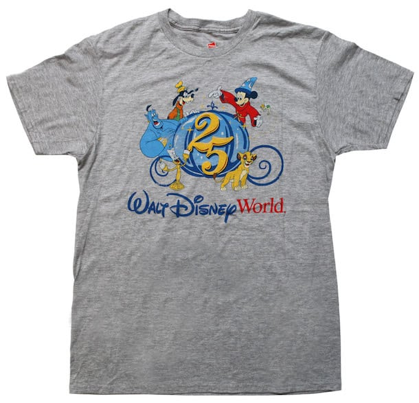 25th Anniversary of Walt Disney World Resort Shirt Coming to The YesterEars Collection