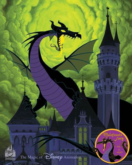 'Maleficent's Fury' Hand-Painted Ink & Paint Cel Debuts November 4 at Disneyland Resort