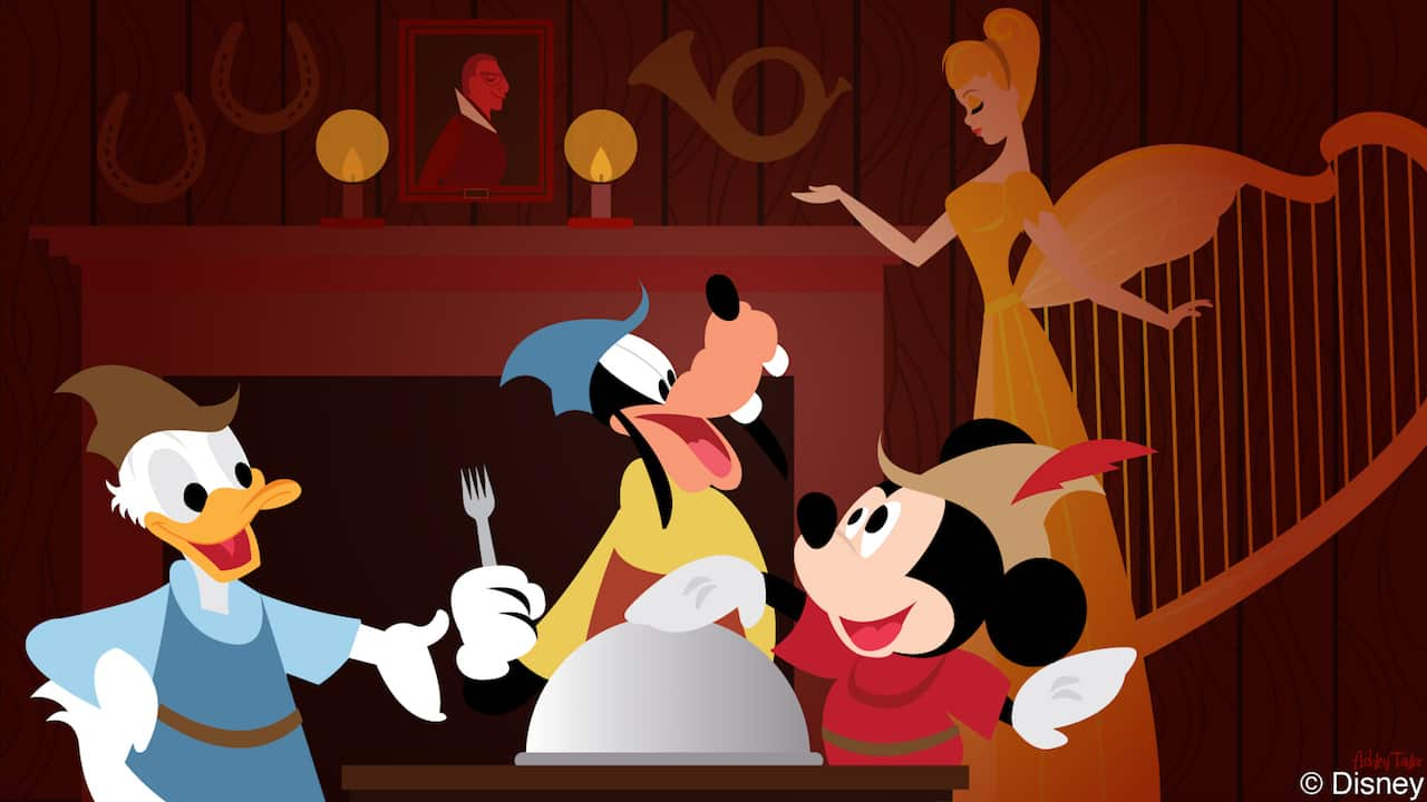 Disney Doodle: Mickey Trades Magic Beans For A Seat At Liberty Tree Tavern