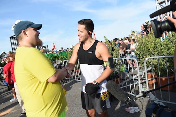 Blind Runner Conquers the Lumiere's Two Course Challenge during the Disney Wine & Dine Half Marathon Weekend