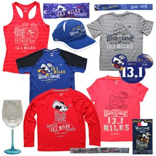 2016 Wine & Dine Half Marathon Weekend Commemorative Merchandise