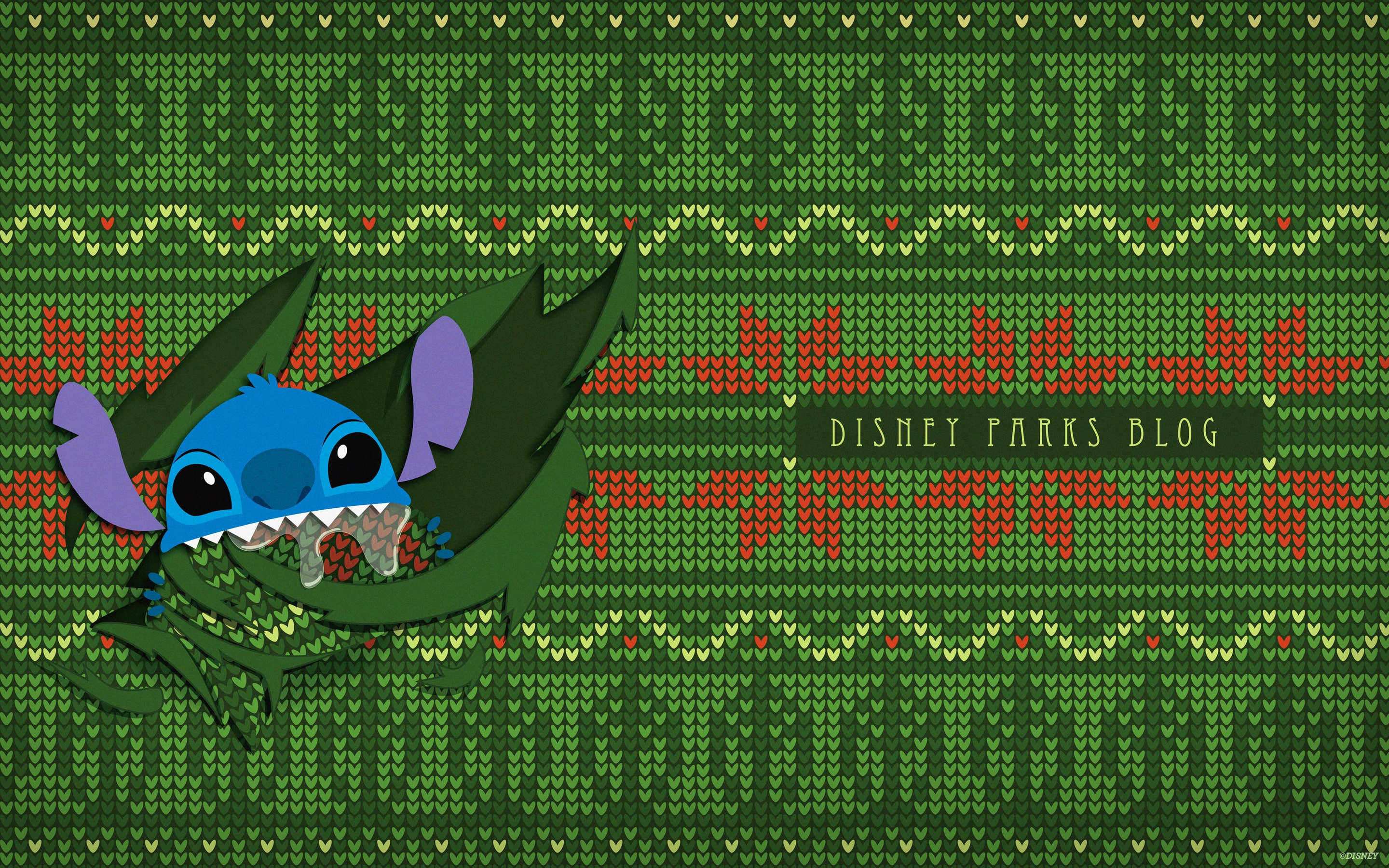 Ugly Christmas Sweater Wallpaper Featuring Stitch Desktop Disney Parks Blog