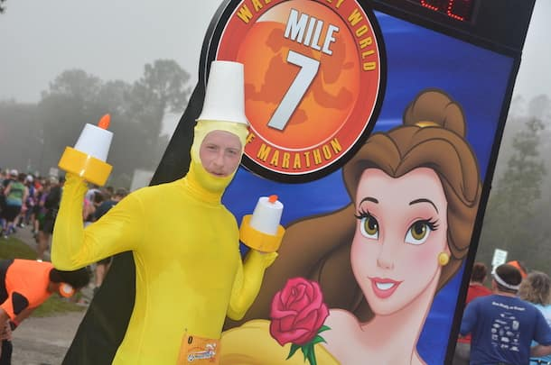 Lumiere from the Beauty and the Beast inspired costume at runDisney Marathon